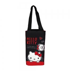 凱蒂貓 保冷暖飲料提袋-愛小熊(黑底)