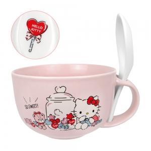 凱蒂貓 湯杯(附湯匙)-糖果