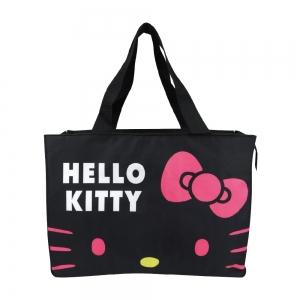 凱蒂貓 超大保冷暖肩背袋-黑