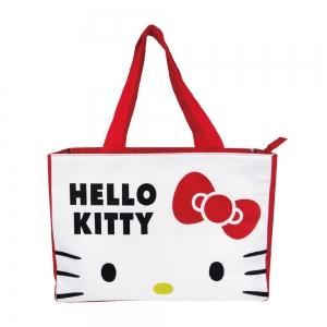 凱蒂貓 超大保冷暖肩背袋-白