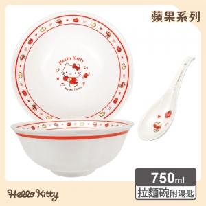 凱蒂貓 拉麵碗(附湯匙)-蘋果