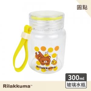 拉拉熊 玻璃水瓶-圓點