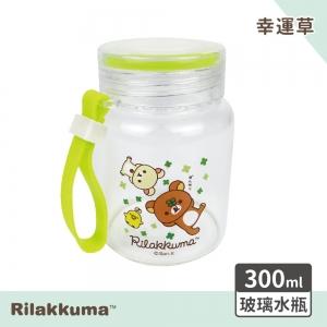 拉拉熊 玻璃水瓶-幸運草