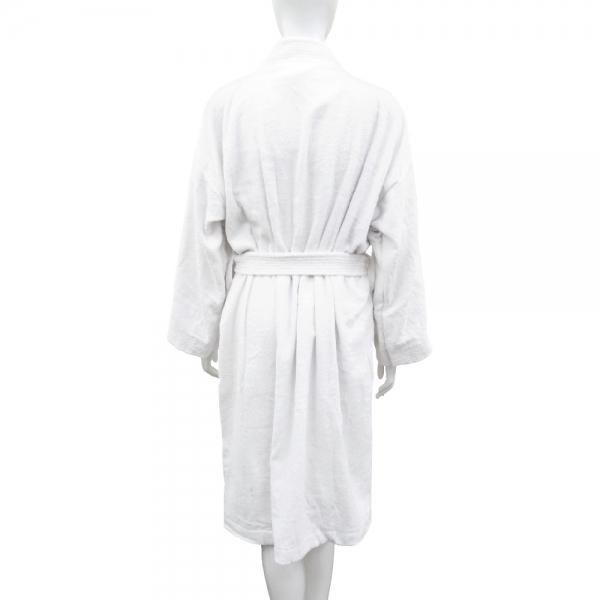 素色浴袍-白
