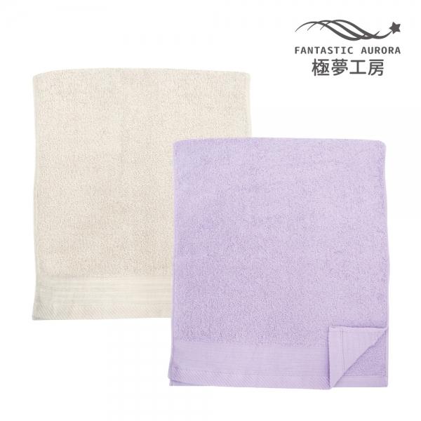 簡約緞條毛巾