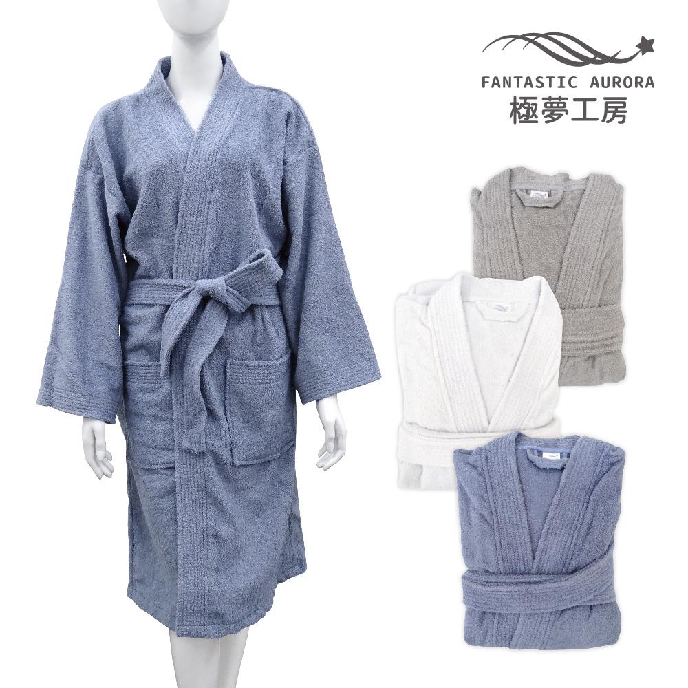 極夢工房-素色浴袍