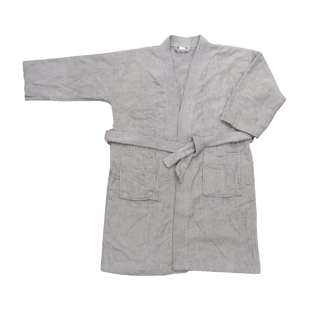 素色浴袍-灰