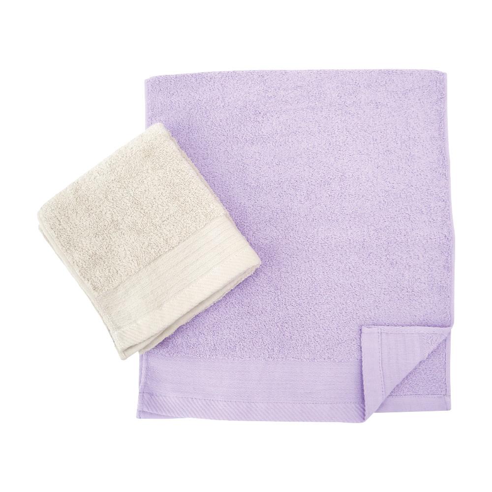 簡約緞條-毛巾