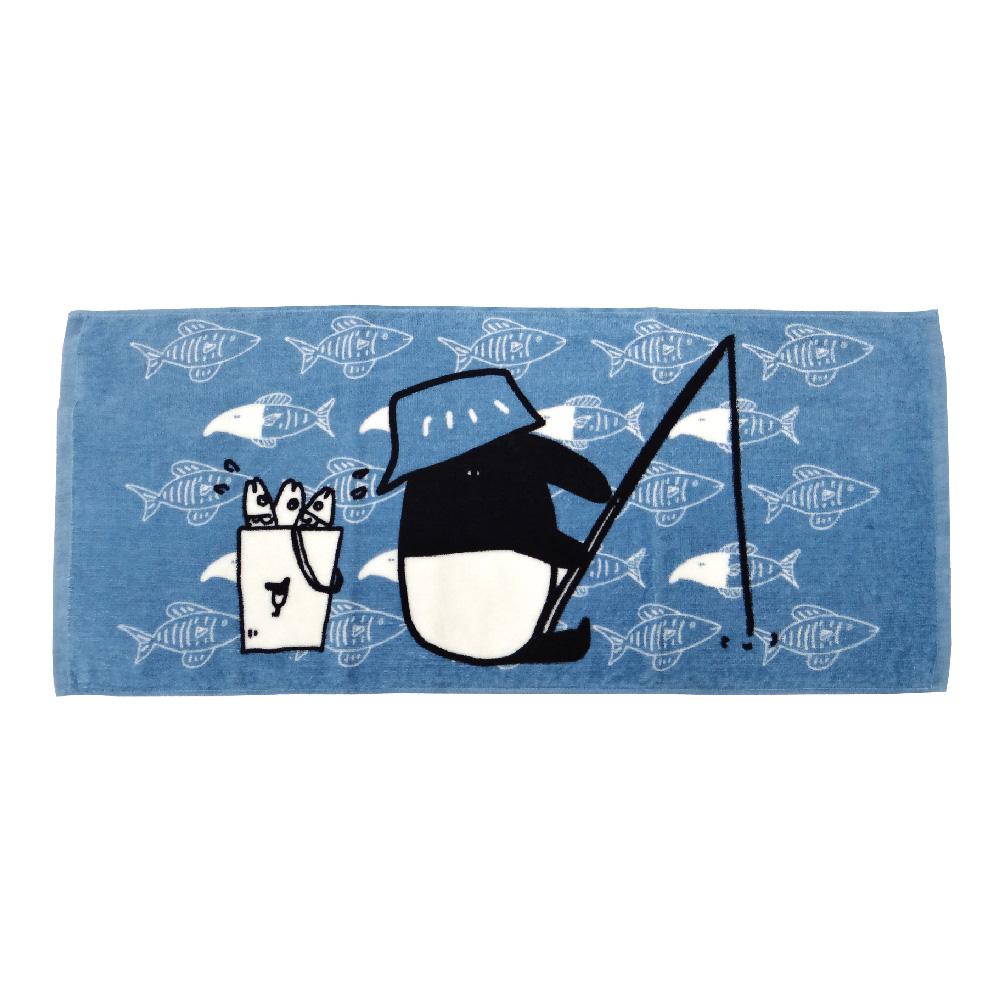 馬來貘-釣魚系列-毛巾