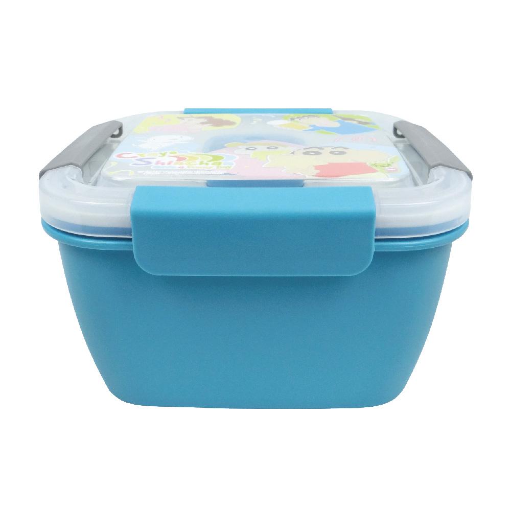 蠟筆小新-野趣保鮮便當盒-大-藍綠