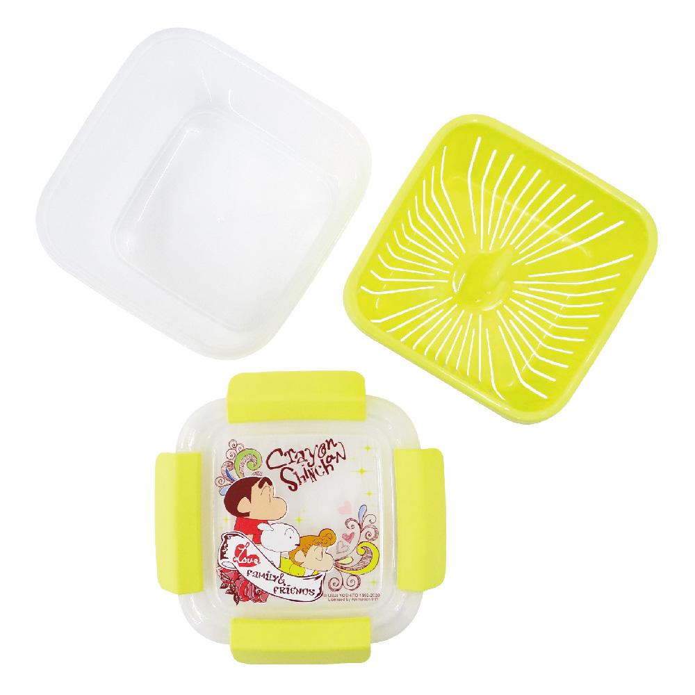 蠟筆小新-瀝水籃保鮮盒-小-黃