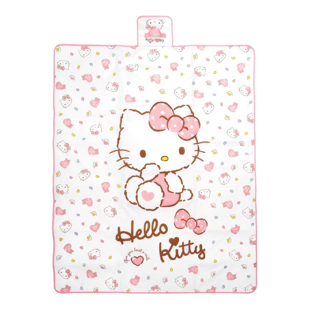 凱蒂貓-野餐墊-愛心