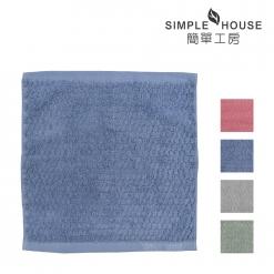 美國棉 提花 方巾-格紋