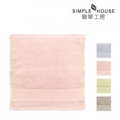 美國棉 緞檔 方巾-素雅
