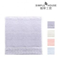美國棉 緞檔 方巾-愛心