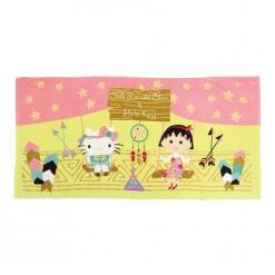凱蒂貓 x 小丸子印地安風浴巾