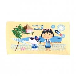 凱蒂貓 x 小丸子海灘風情童巾