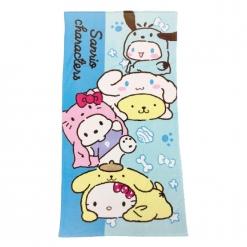 三麗鷗 狗年行大運浴巾-藍