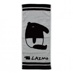 馬來貘 雙色提花毛巾