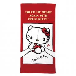 凱蒂貓Touch-紅 浴巾
