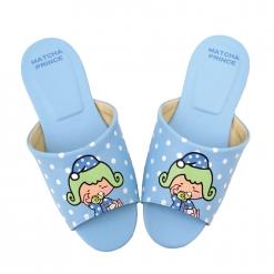 茶茶小王子 成人室內拖鞋-點點藍