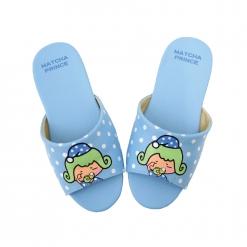 茶茶小王子 兒童室內拖鞋-點點藍