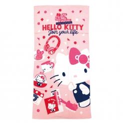 凱蒂貓 45週年浴巾-粉紅
