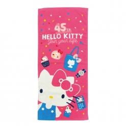 凱蒂貓 45週年毛巾-桃紅