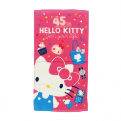 凱蒂貓 45週年童巾-桃紅