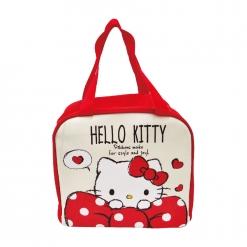 凱蒂貓 保冷暖提袋-白點蝴蝶結