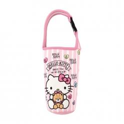 凱蒂貓 飲料提袋-愛心小熊