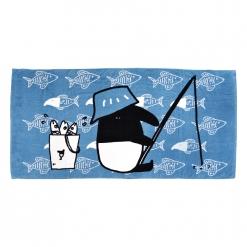 馬來貘 浴巾-釣魚