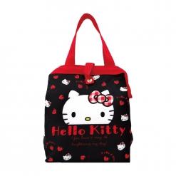 凱蒂貓 方口保冷暖袋-格紋