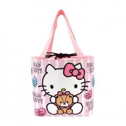凱蒂貓 束口保冷暖袋-抱小熊