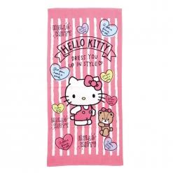 凱蒂貓 浴巾-愛戀熊熊