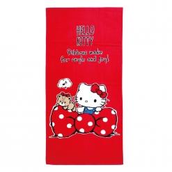 凱蒂貓 浴巾-愛蝴蝶結