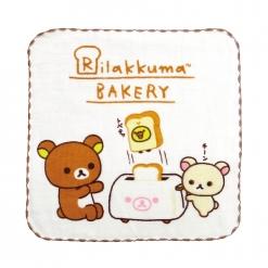 拉拉熊 紗布小方巾-烤土司