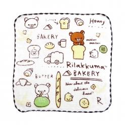 拉拉熊 紗布小方巾-麵包餐車