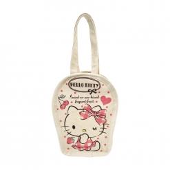 凱蒂貓 帆布飲料袋-櫻桃