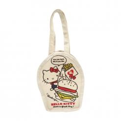 凱蒂貓 帆布飲料袋-漢堡