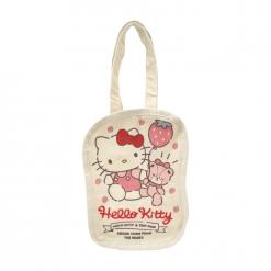 凱蒂貓 帆布飲料袋-草莓