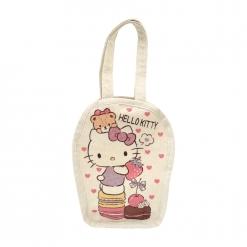 凱蒂貓 帆布飲料袋-馬卡龍