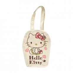 凱蒂貓 帆布飲料袋-愛心