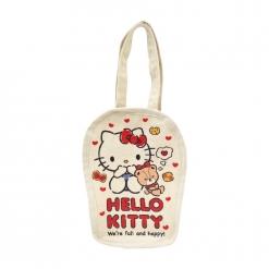 凱蒂貓 帆布飲料袋-小熊