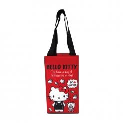 凱蒂貓 保冷暖飲料提袋-愛小熊(紅底)