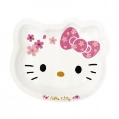 凱蒂貓 造型陶瓷盤-櫻花