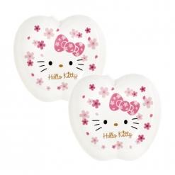 凱蒂貓 蘋果造型盤2入-櫻花