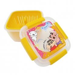 蠟筆小新 瀝水籃保鮮盒(大)-橘
