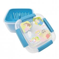 蠟筆小新 瀝水籃保鮮盒(大)-藍綠