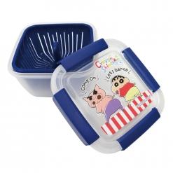 蠟筆小新 瀝水籃保鮮盒(小)-藍